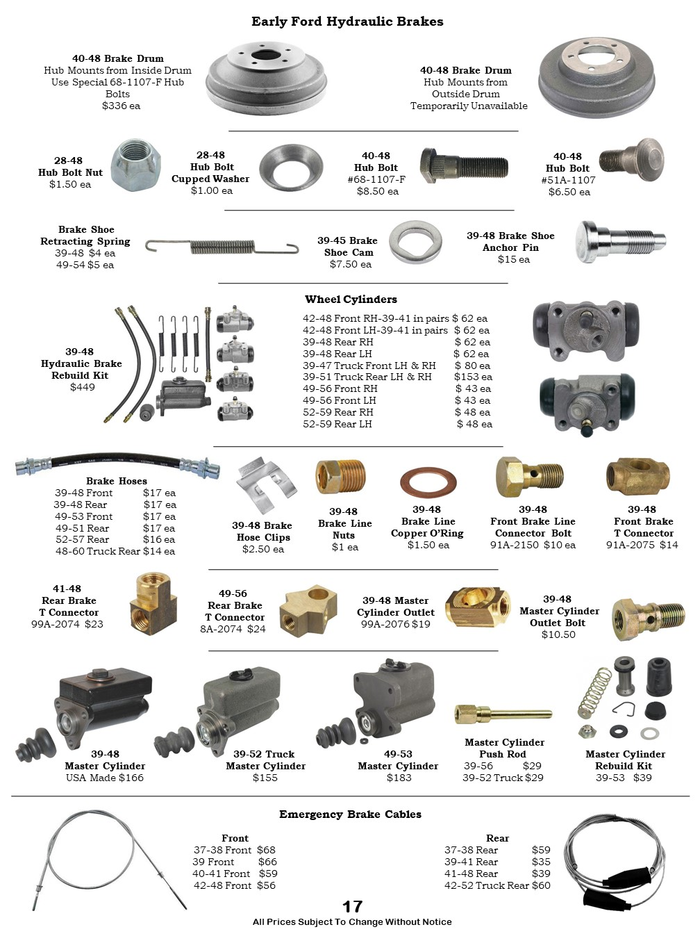 Car Brakes, Master Cylinders, Boosters, Brake Fittings